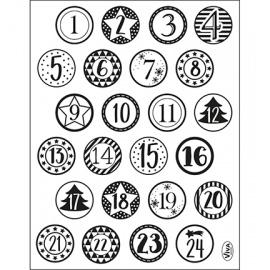 Razítko silikonové 14*18 cm - na advetní kalendář