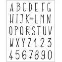 Silikonové razítko - 14*18 cm - abeceda velká