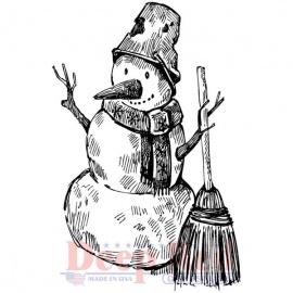 Cling razítko sněhulák