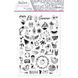 Gumová razítka pro Bullet journal  - léto