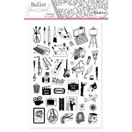 Gumová razítka pro Bullet journal  - hobby