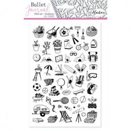 Gumová razítka pro Bullet journal  - venkovní aktivity