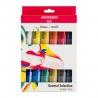 Sada akrylových barev amsterdam 12 x20 ml - pastelové odstíny