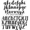 Vyřezávací šablona abeceda sizix