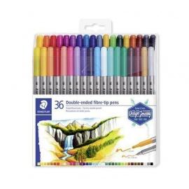 """Fixy """"Design Journey"""", sada 36 různých barev, 0,8/3,0 mm, oboustranné,"""