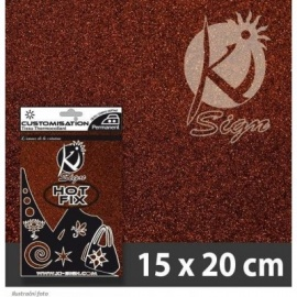 Glitrová folie na textil - brown