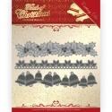 Vyřezávací šablona bordura 3x vánoční motiv