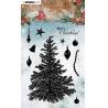 Razítko silikonové vánoční strom a bańky