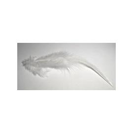 Peří marabu 20 ks bílé