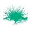 Peří marabu 20 ks tm.zelené