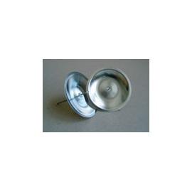 Svícen kulatý 5 cm-stříbrný