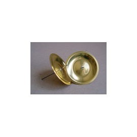 Svícen kulatý 5 cm-zlatý