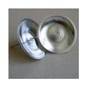 Svícen kulatý 8 cm-stříbrný