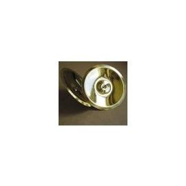 Svícen kulatý 8 cm - zlatý