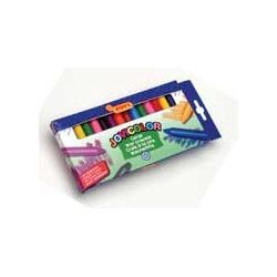 Voskové pastely trojhranné 24 ks - kelímek