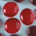 Nugety sklo 100gr- červená 13-15 mm