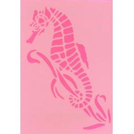 Šablona na texil - mořský koník