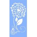 Šablona na textil  - jiřina 30*15 cm