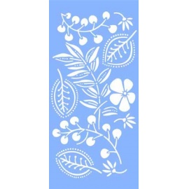 Šablona na textil - listy 30*15 cm