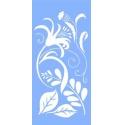 Šablona na textil - květy 30*15 cm