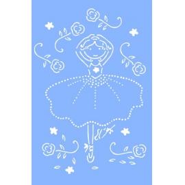Šablona na textil baletka 10*15 cm