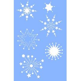 Šablona na textil hvězdy 10*15 cm