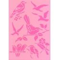 Šablona - malí ptáčci 20*15 cm