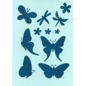 Šablona na texil - motýli siluety