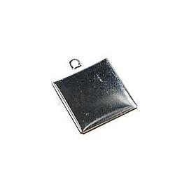 Lůžko čtverec stříbro 2*2 cm