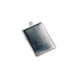 Lůžko obdélník stříbro 3*2 cm