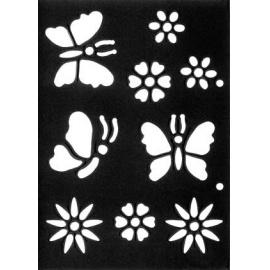 Šablona motýlci 15*21 cm IC