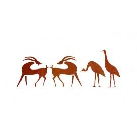 Šablona na texil - africká zvířena 28*18 cm