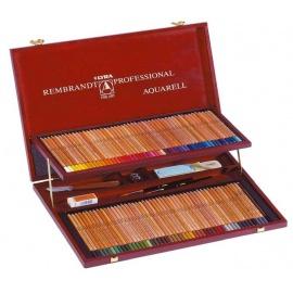 Akvarelové pastelky Rembrant profi dřevěný kufřík