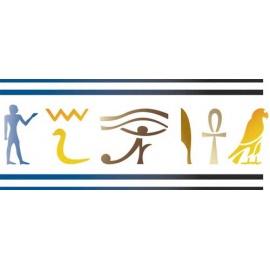 Šablona na texil - egypt 15*35 cm