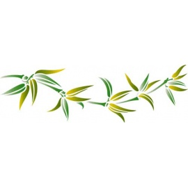 Šablona na texil - bambus 15*35 cm