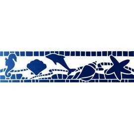 Šablona na texil -  mořské motivy 15*35 cm