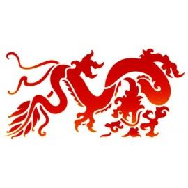Šablona na texil -  asijský drak 15*35 cm