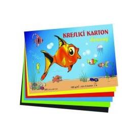 Kreslící karton barevný 50 listů 180g/m2   A4
