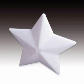 Polystyrenová hvězdička 10 cm špičatá
