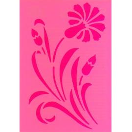 Šablona na texil - květ