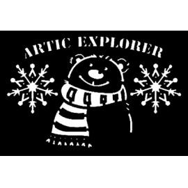 Šablona polární medvěd 10*15 cm