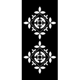 Šablona kosočtverce 15*33 cm