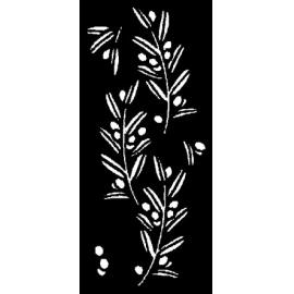 Šablona olivová snítka 15*33 cm
