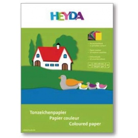 Barevný papír blok 25 listů 24*34 cm - 130 gr.