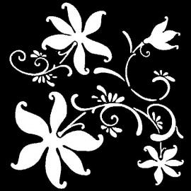 Šablona - květy 33*33 cm