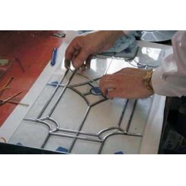 Olověná páska  s mosaz povrchem 4,5mm - metráž