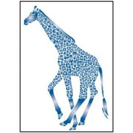 Šablona na textil  žirafa 15*21 cm