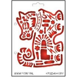 Šablona na textil pes 15*21 cm