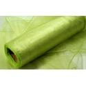 Organza šířka 40 cm /1 bm - zelinkavá