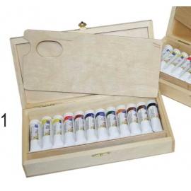 Sada olejových barev Master Class 12*18 ml dřevo